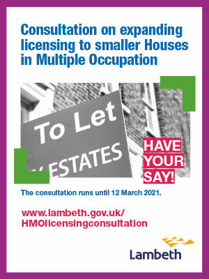 Lambeth Additional Licensing Consultation - have your say