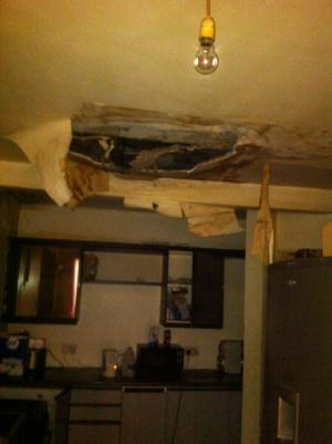 Brent housing prosecution collapsed kitchen ceiling