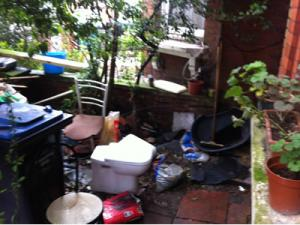 Brent Council landlord prosecution - rubbish being bins
