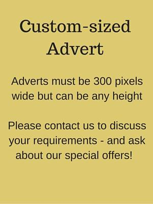 Example custom-sized advert