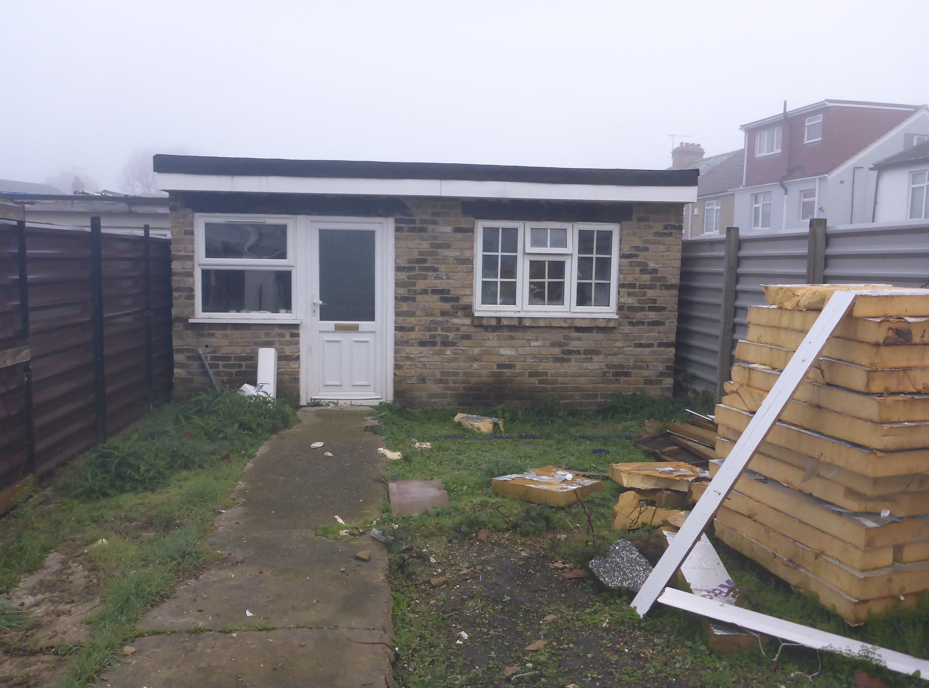 Illegal outbuilding demolished by Ealing Council 2019