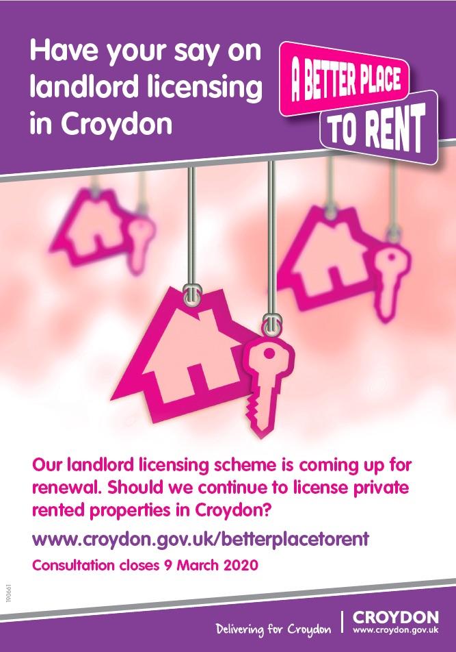Croydon Council selective licensing consultation 2019/20