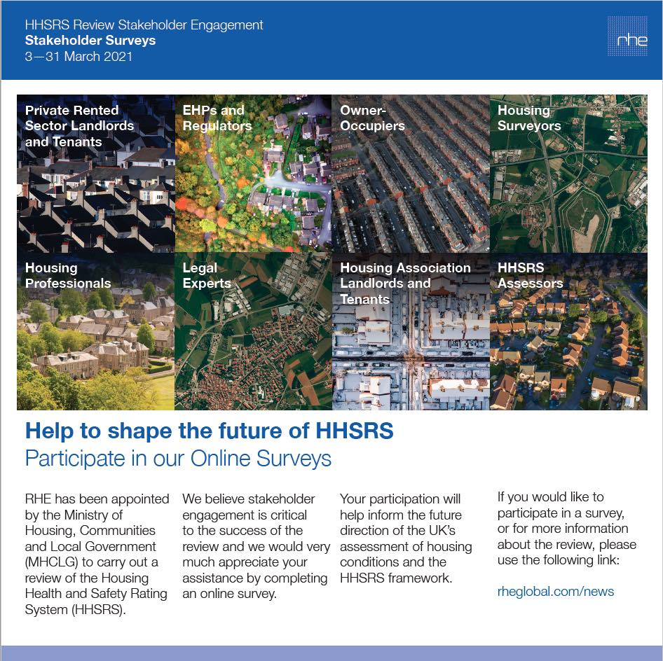 HHSRS Phase II stakeholder engagement survey 2021