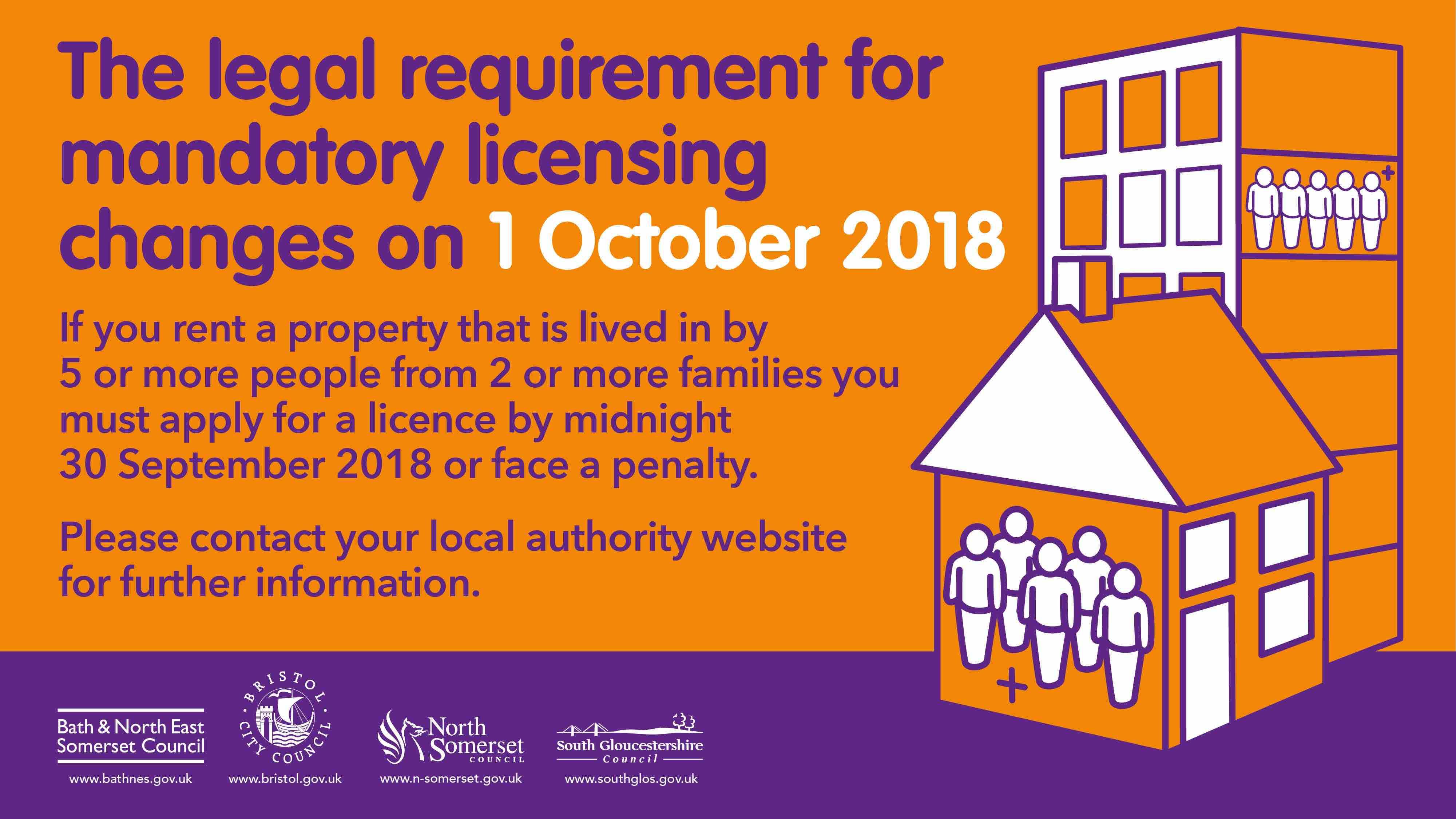 West of England mandatory HMO licensing promo 2018